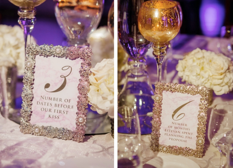 Marble Table Number Card